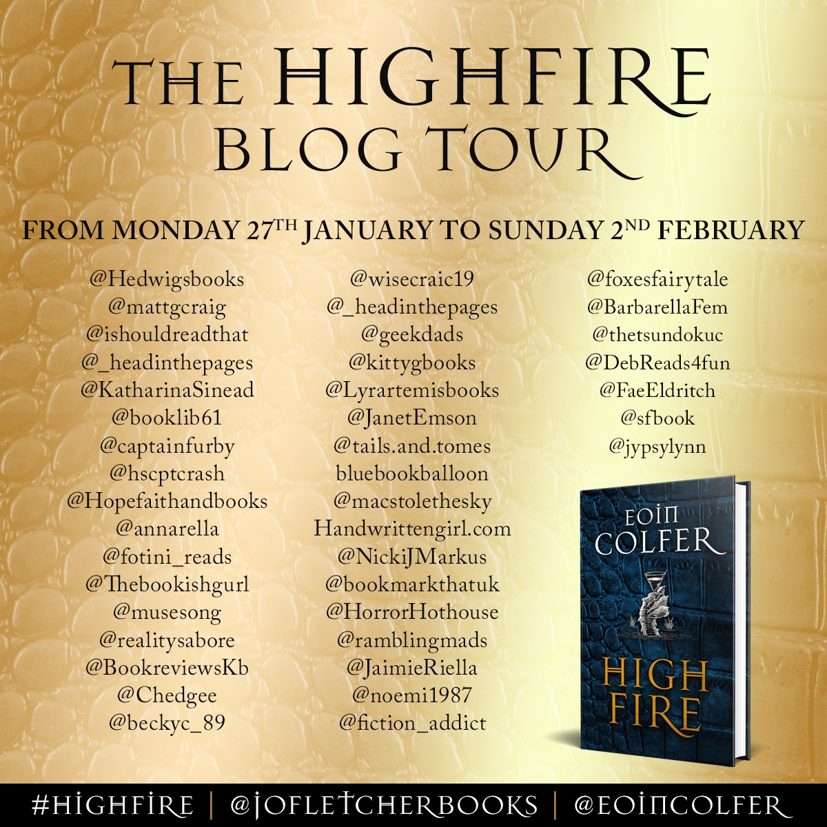 Blog Tour Review: Highfire by Eoin Colfer